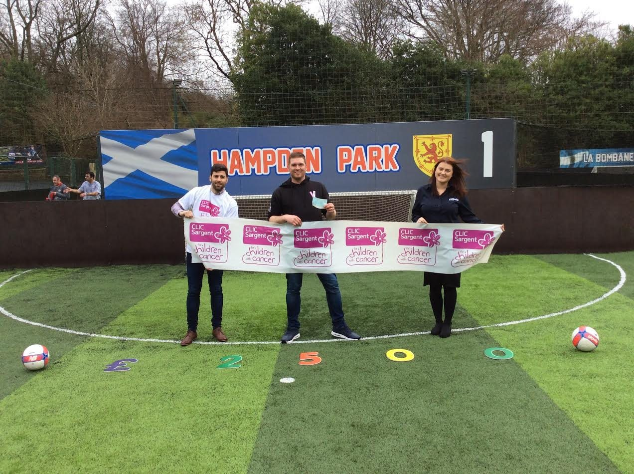 CLIC Sargent scores £2500 with Goals Soccer Centres