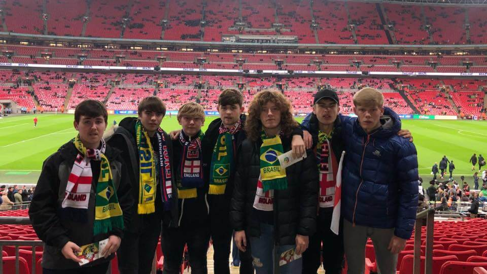 Lucozade Sport Cup winners enjoy a free trip to see England vs Brazil at Wembley